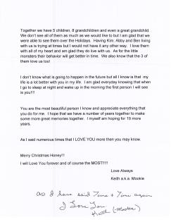 My 2013 Christmas letter from Keith0002